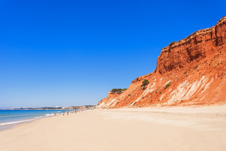 Among the best beaches in the Algarve is Falesia beach Portugal