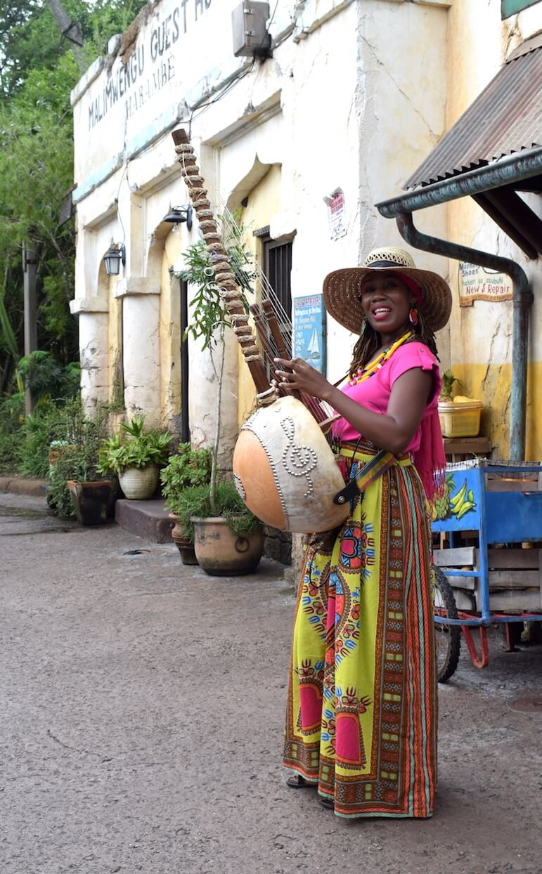 Street Performer at Mombasa Marketplace in the Africa section of Animal Kingdom | Pic Lorraine Loveland