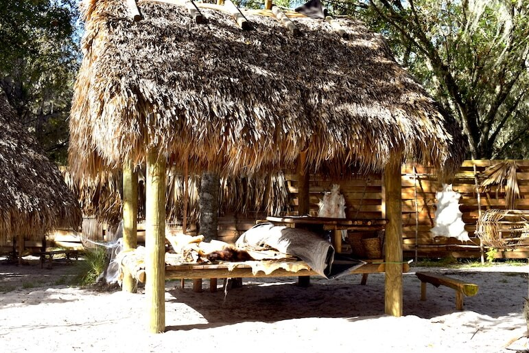 The Native American Village at Boggy Creek Airboat Adventures | Pic: Lorraine Loveland