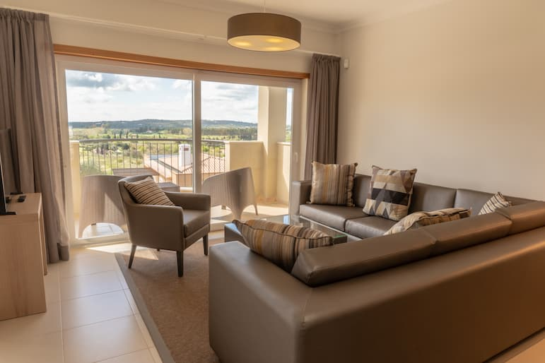 Where to stay in the Algarve, Vale da Ribeira boasts spacious rooms and beautiful balcony views, perfect for families