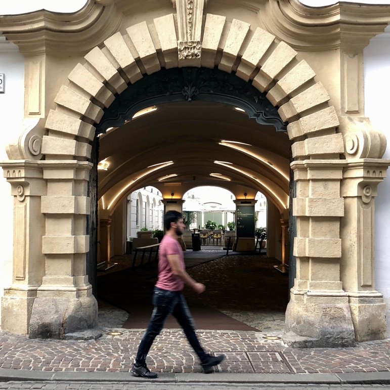 An archway to history at Graz Museum