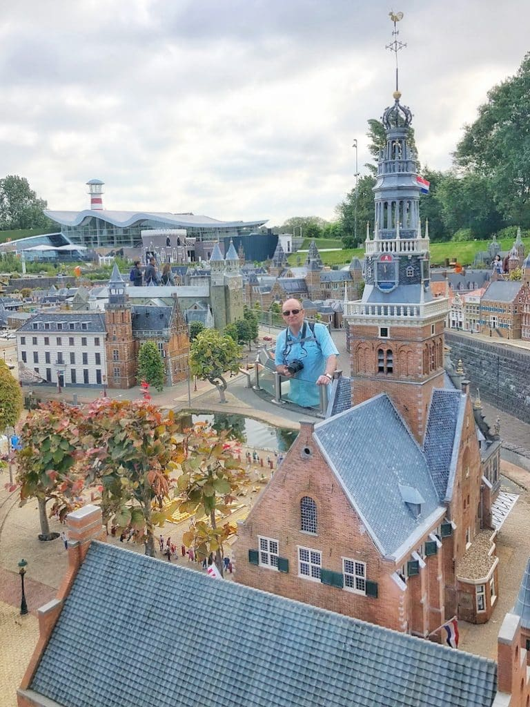 At Madurodam, a park in Scheveningen with miniature replicas of famous landmarks and buildings from across Holland