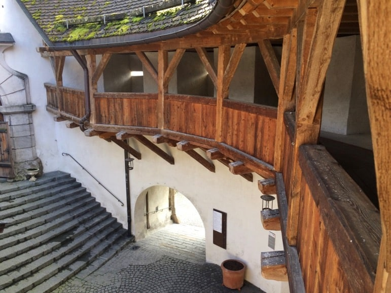 Inside the Kufstein fortress