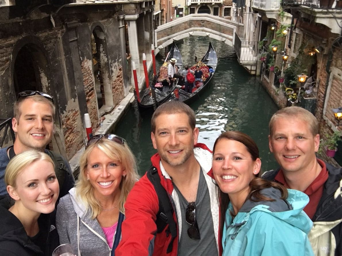 Jennifer Bocchi with her husband and their friends enjoy a second home swap in Venice
