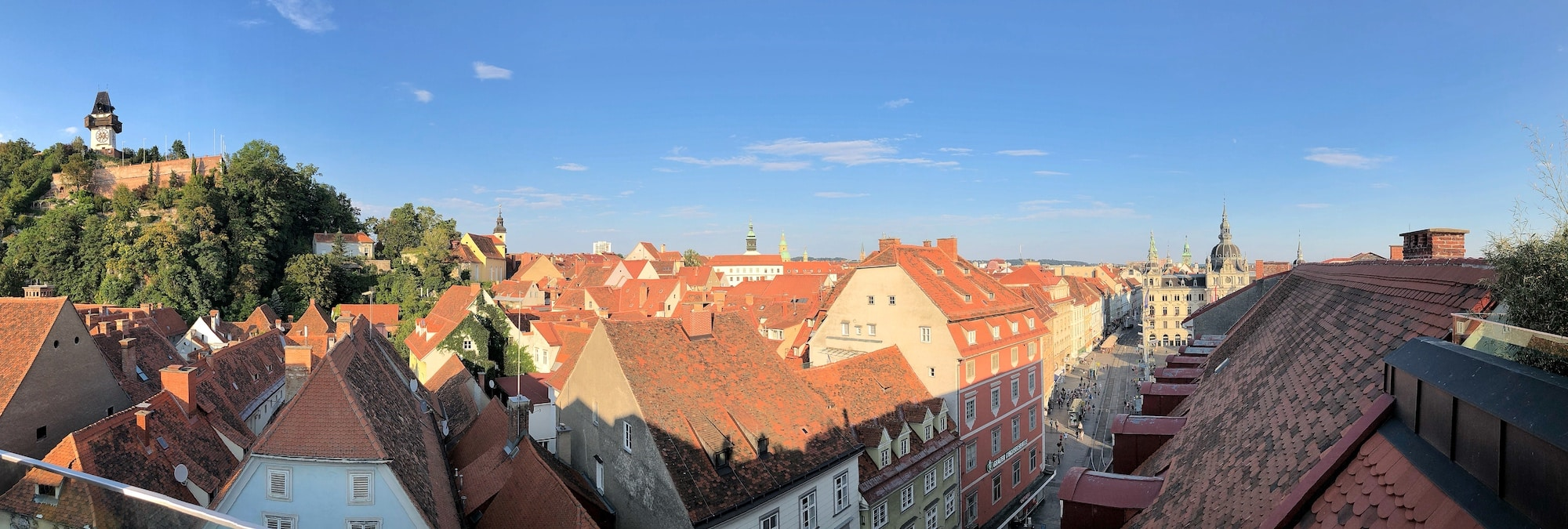 Panoramic view of the city of Graz