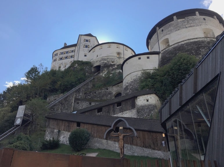 The 800 year old Kufstein Fortress in the Tirolean Alps