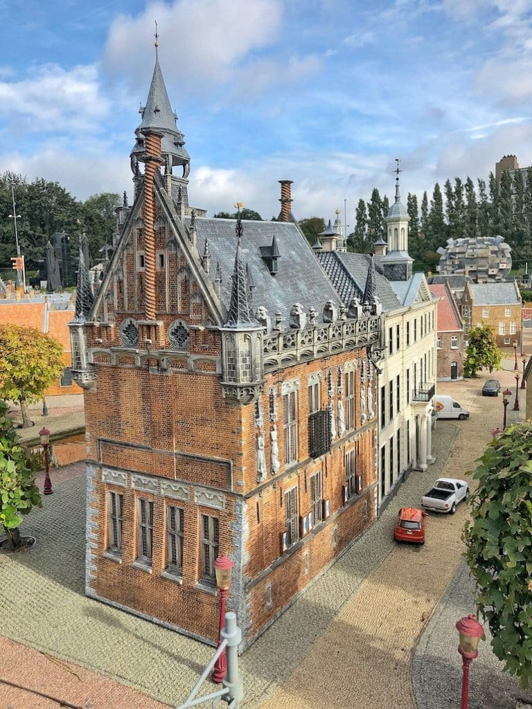The Madurodam park has miniature replicas of famous Dutch landmarks and buildings