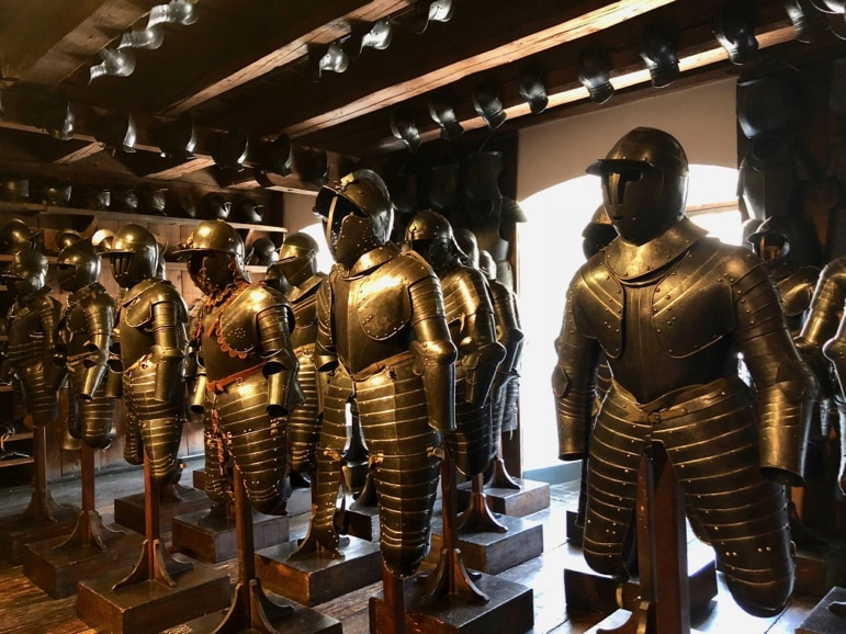Things to do in Graz - arm yourself at the museum at Landeszeughaus