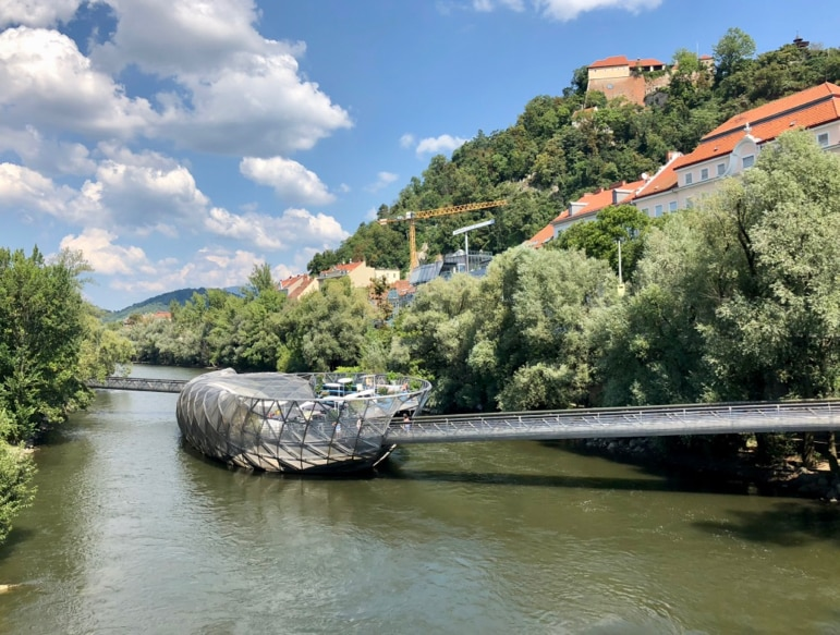 What to do in Graz, Austria - spend time taking in the Murinsel