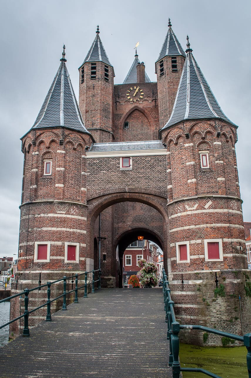 Amsterdamse Poort once the gateway into the Haarlem via the ancient city wall