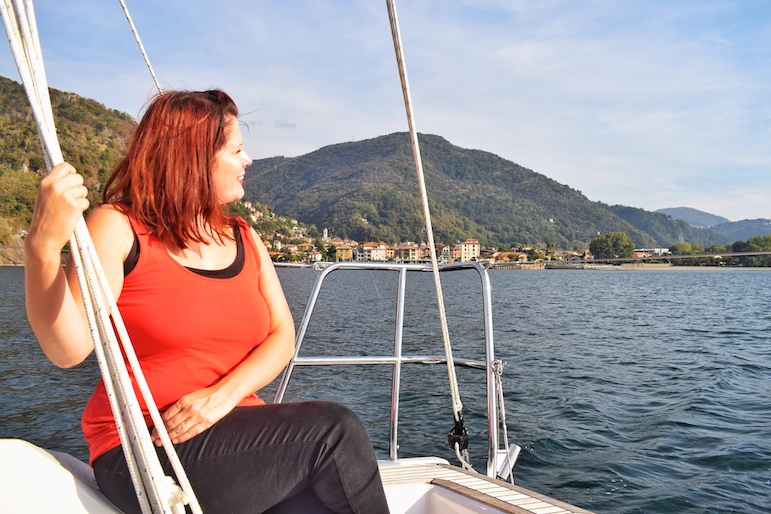 An afternoon soaking up the views on Lake Maggiore - Italy's second largest lake | Pic Lorraine Loveland