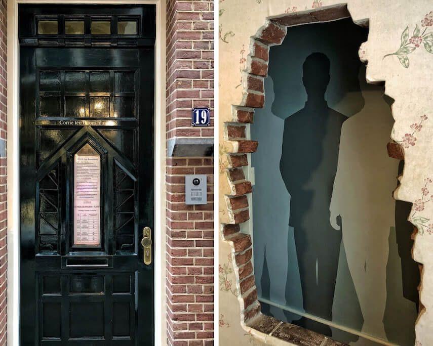Corrie Ten Boom house where six Jews hid in a wall cavity from Nazis during the war