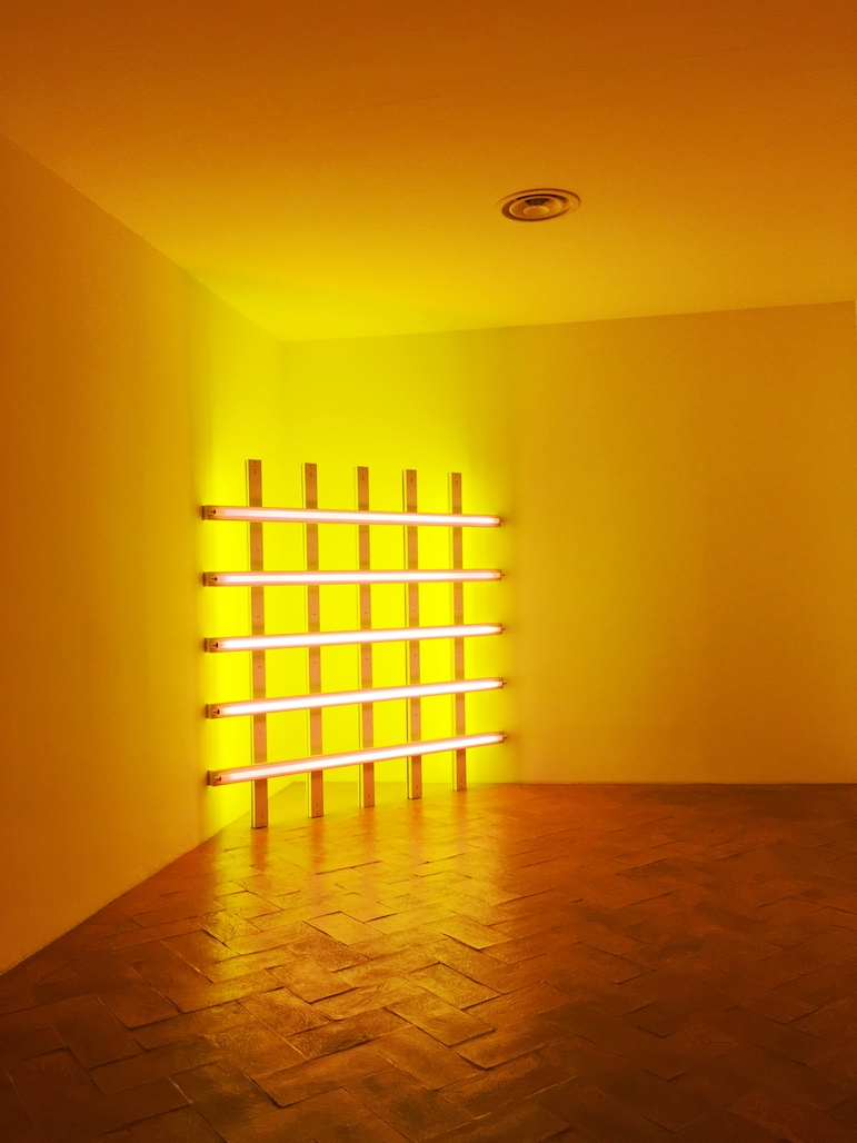 Dan Flavin's neon light installations are an eye-popping encounter at Villa Panza | Pic Lorraine Loveland