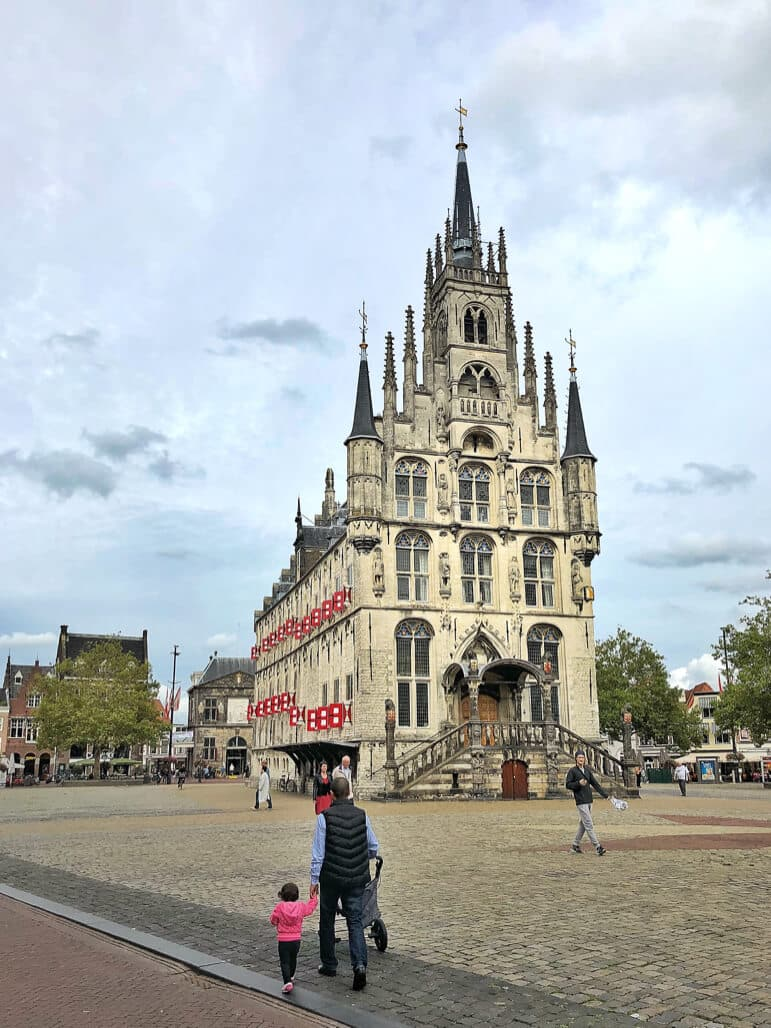 In the heart of Gouda, Holland