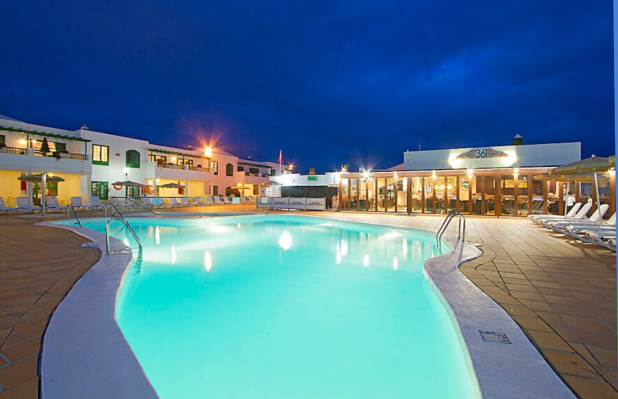 One of the of four fabulous swimming pools at Lanzarote's Club Las Calas