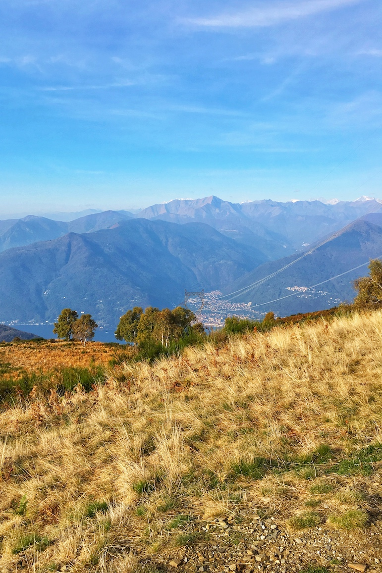 Our Nordic walk was worth the rewards for views of the Italian Lakes' Lake Maggiore and the Varese Prealps | Pic Lorraine Loveland