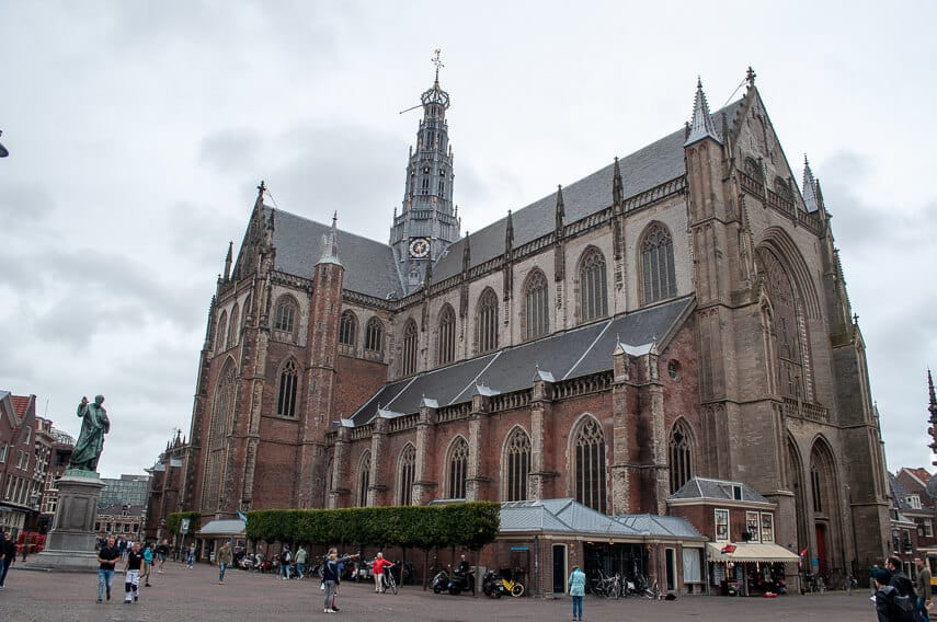 hedral of St Bavo dominates the Grote Markt of Haarlem