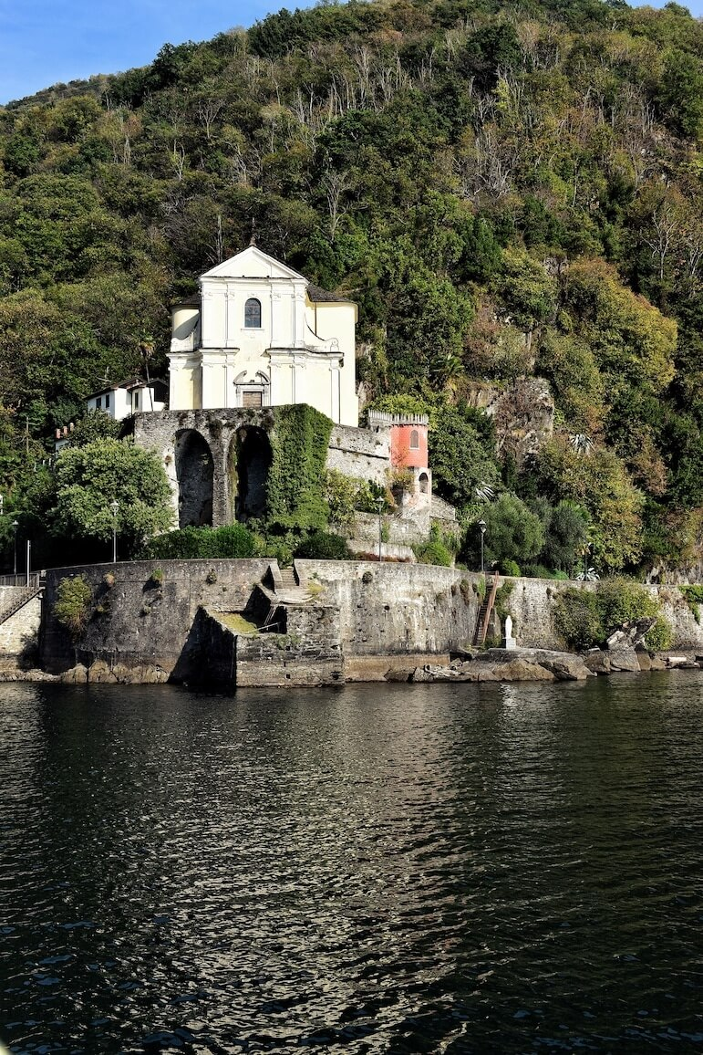 The Sanctuary of the Madonna is situated in Maccagno on the eastern shore of the lake and it is a 16th century church that is also rumoured to have been a mint factory producing coins