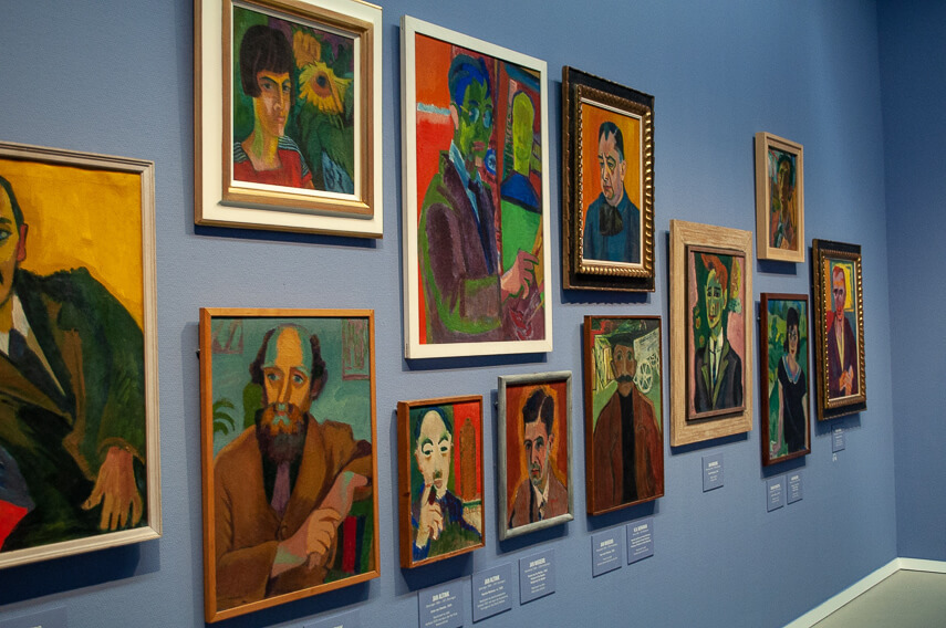 The museums main collection charted the colour packed genre of Groningens avant garde movement
