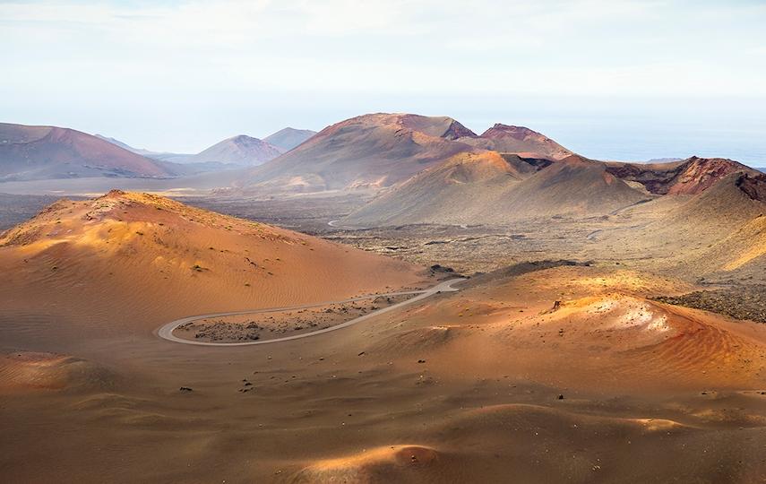 Timanfaya National Park features lunar-like landscape and impressive geysers