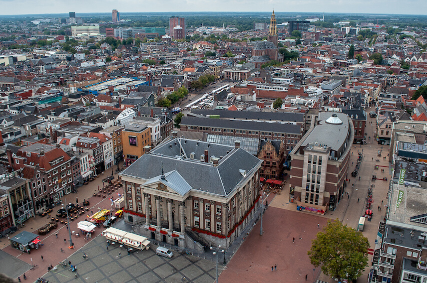 Views over Groningen from the Martini Tower
