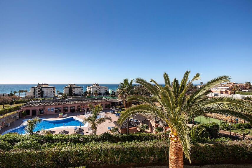 Choosing where to stay in Malaga, well Club Delta Mar boasts pretty gardens and coastal views