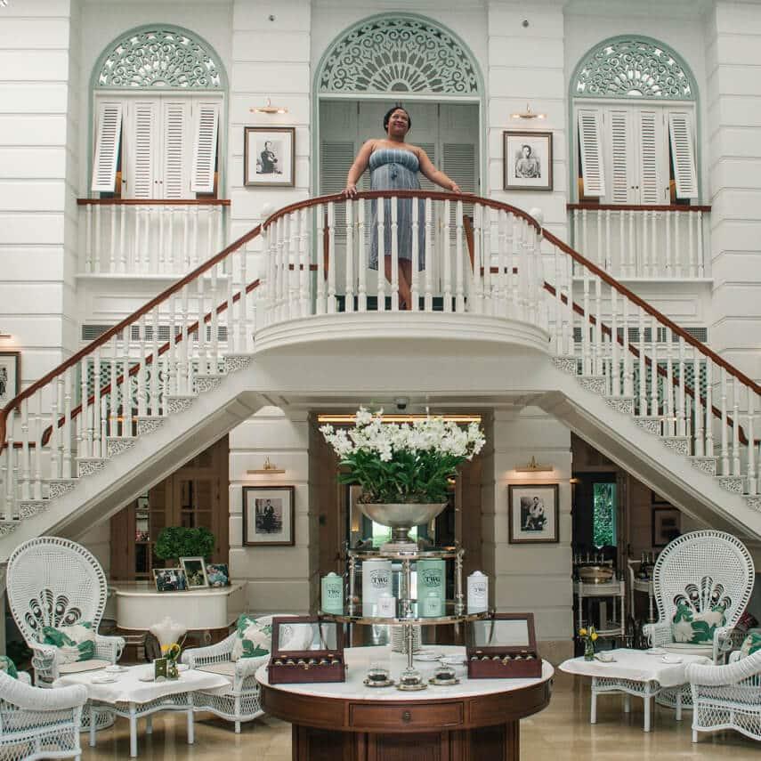 Luxury travel blogger Sarah Lee of LiveShareTravel, the Author's Lounge, Mandarin Oriental Bangkok