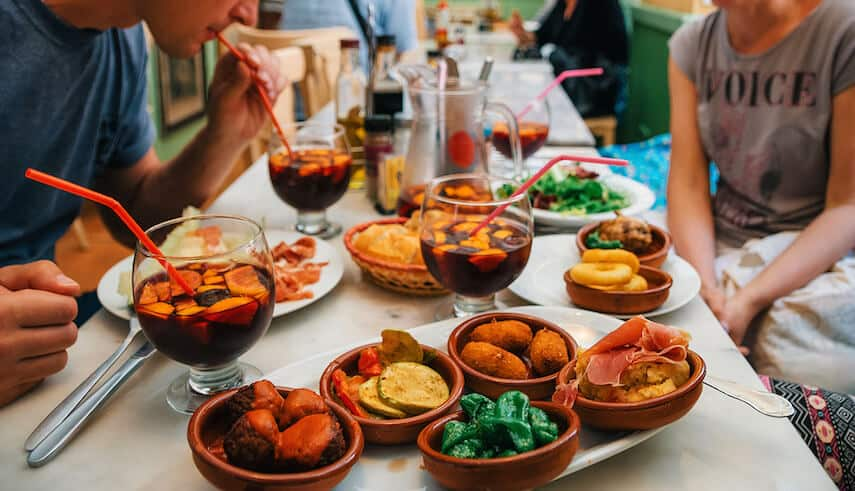 There is little that is more appetising than a table groaning under the weight of tapas and jugs of sangria