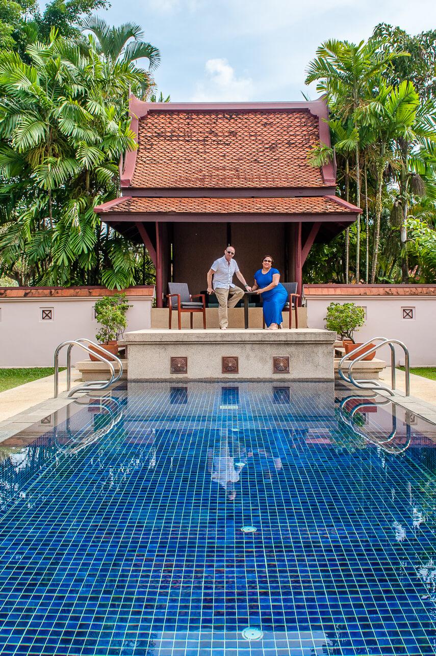 Sarah & Terry Lee, founders of UK luxury travel blog LiveShareTravel, in Thailand