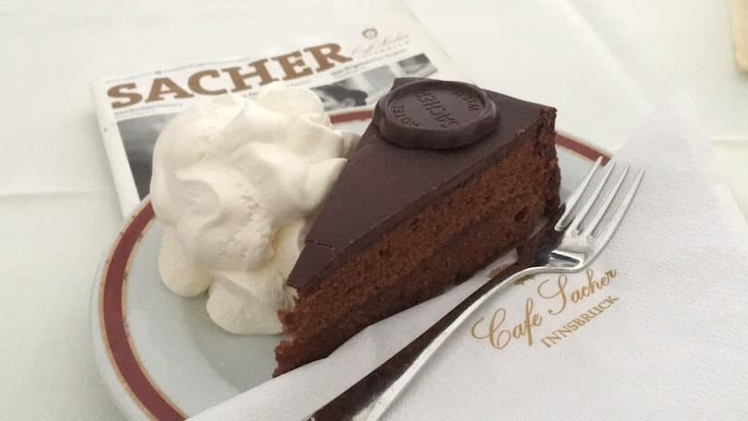 Sacher torte is a famous Austrian food and rather too delicious dessert