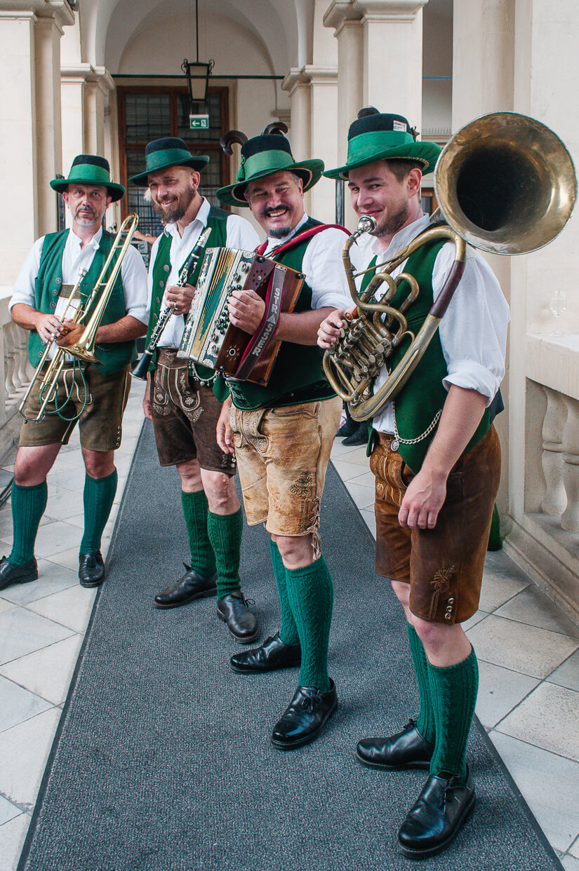 This Oompah band play for us before the Long Table, one of the most popular Austrian food events