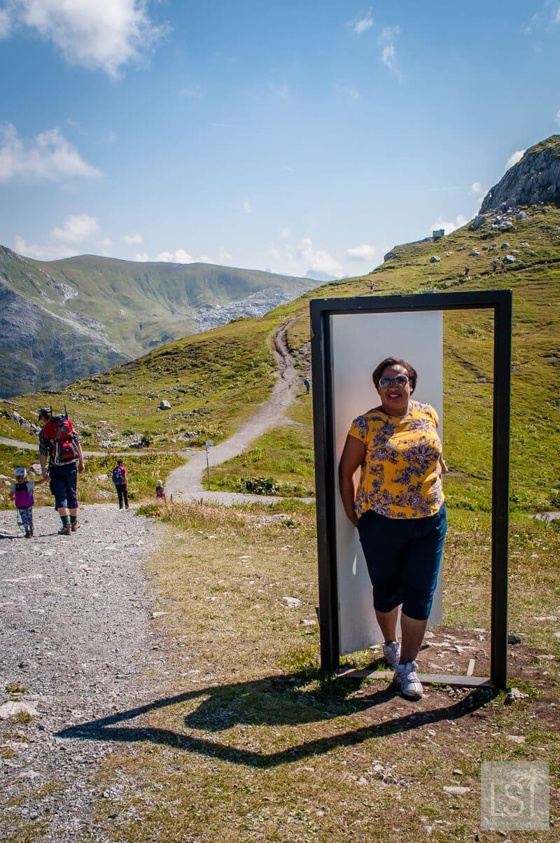 Door on a mountain