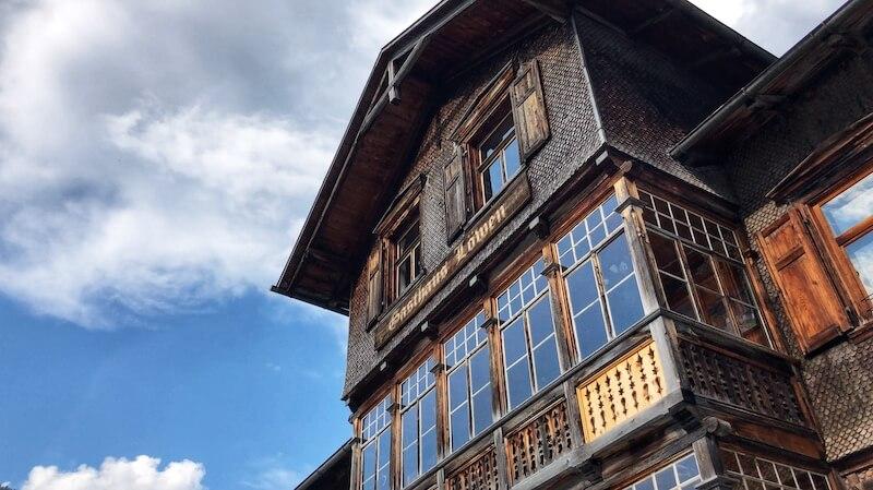 Lowen distillery in the village of Au in Vorarlberg Austria