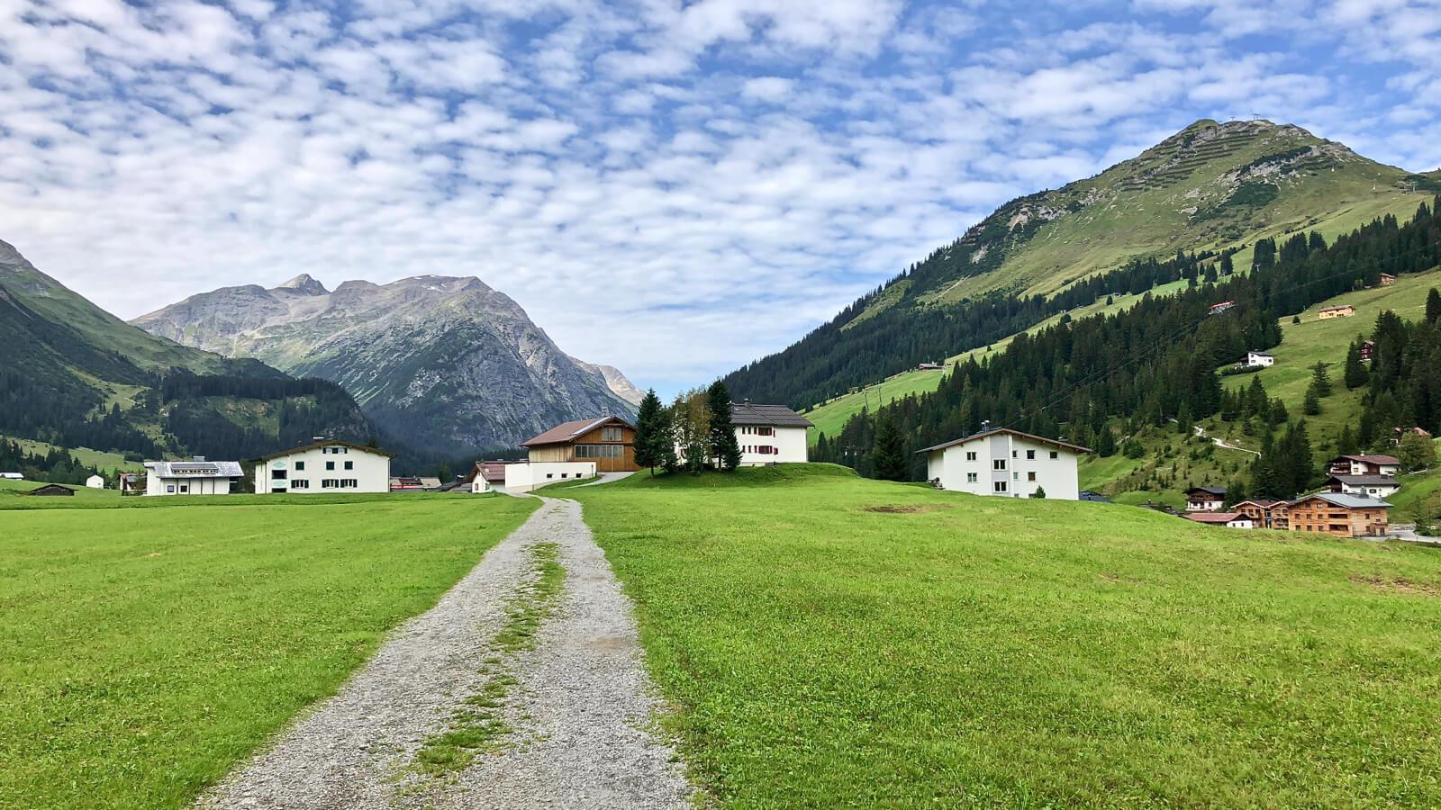 Mountains in Vorarlberg Austria