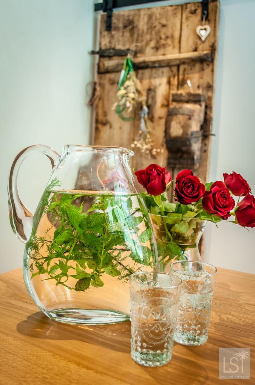 Refreshing herb infused drink