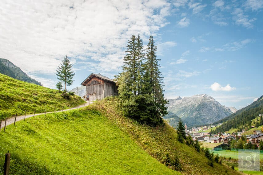 Views of Lech from our herbal walk on the meadows of the town