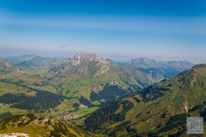 Mountain views over Lech Austria