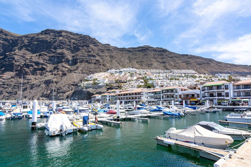 One of the best things to do in Los Gigantes is to visit the pretty Marina.