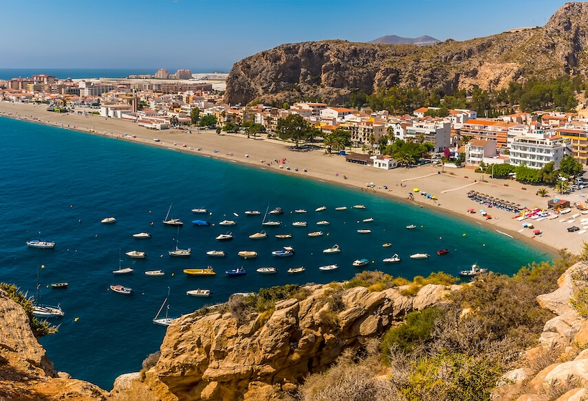Playa de la Calahonda in Nerja is one of the most charming and iconic beaches in the region, often spotted adorning postcards