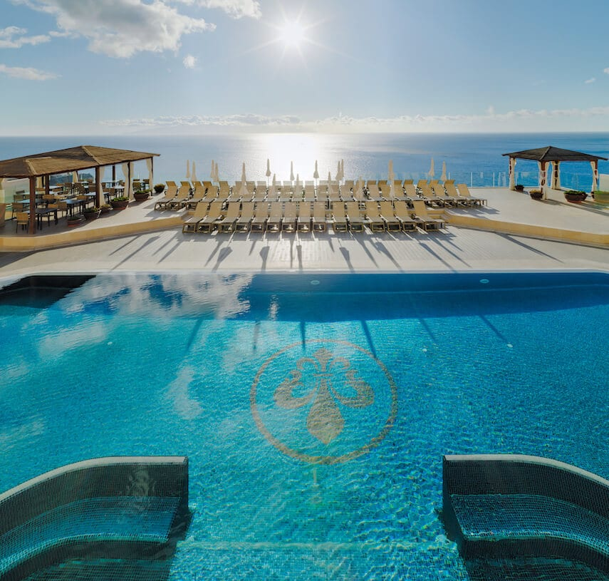 The view from Tenerife's Royal Sun Resort's pool over the Atlantic Ocean is spectacular