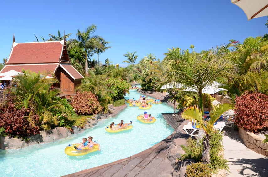 Thai-themed water park, Siam Park, is one of Europe's largest