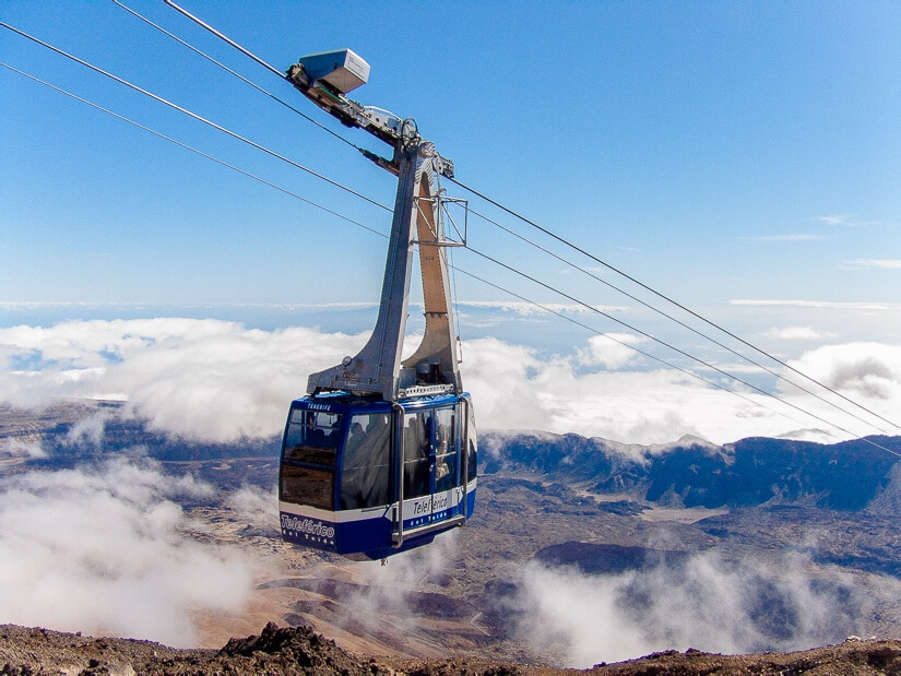 Cable car at Mount Teide, Tenerife