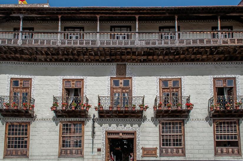 Casa de los Balcones, in La Orotava, Tenerife