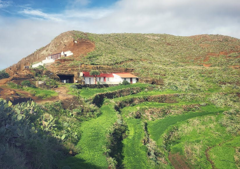Cave houses and terraces in north Tenerife