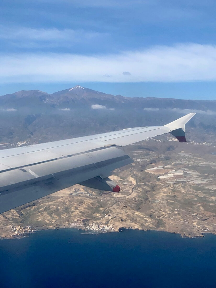 Mount Teide, Tenerife from a plane