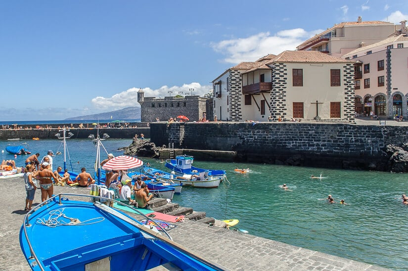 Puerto de la Cruz, in northern Tenerife