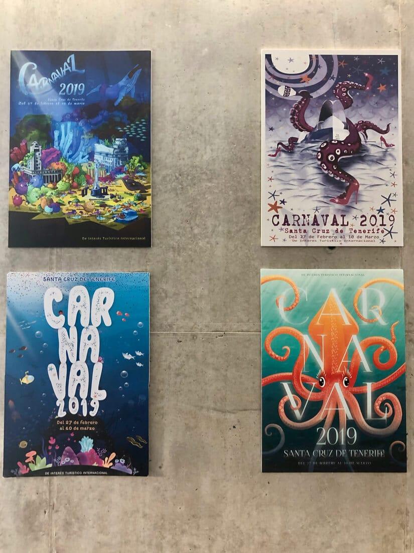 Tenerife carnival posters