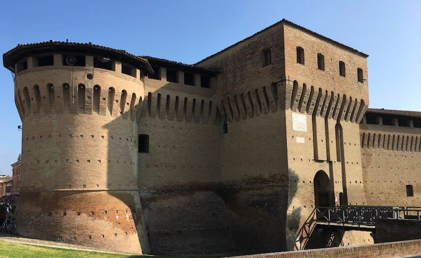 In Forlimpopoli there is the imposing 16th century Cardinal Albornoz's castle