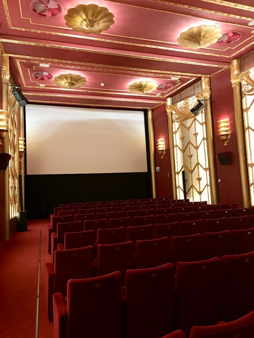 Inside the refurbished Fulgor Cinema, Rimini