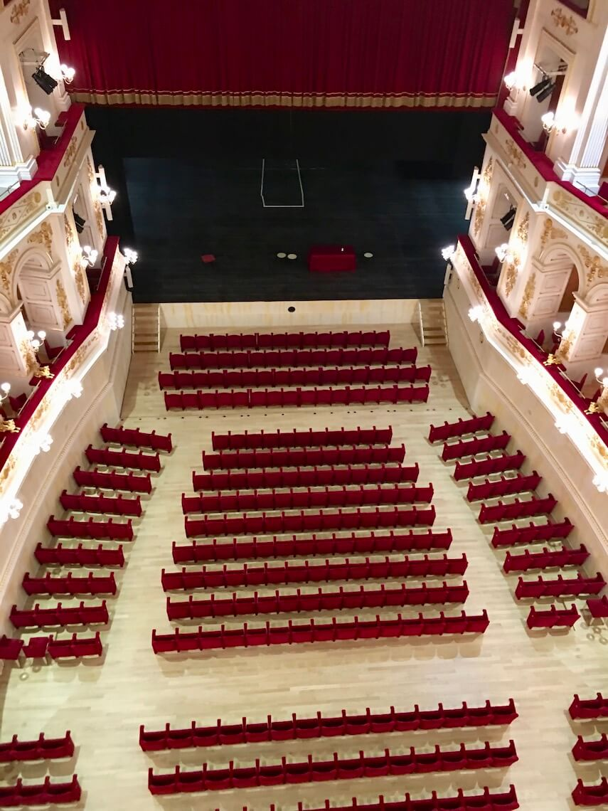 The auditorium at the Galli Theatre Rimini